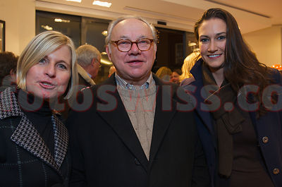 Hubert Burda, Ariane Ehrat, Sara Roloff Official Opening Party of the Willy Bogner Sport and Fashion Shop at the Plaza de Mau...