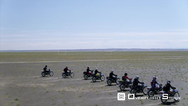 Group Motocycle trip in South Gobi Drone Video Mongolia