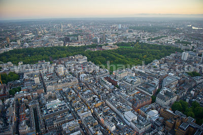 Aerial view of Buckingham Palace, Westminster, London