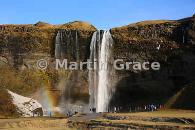 Seljalandsfoss waterfall in late winter, Iceland south coast