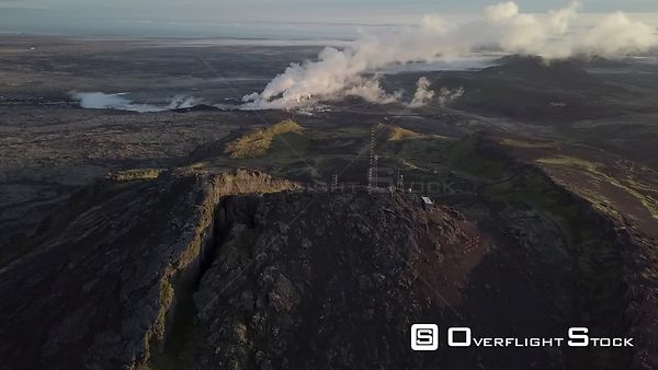 Drone Video Svartsengi Geothermal Power Plant Grindavik Iceland