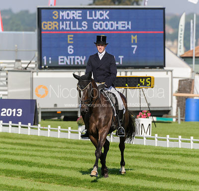 Wills Goodhew and MORE LUCK - dressage phase,  Land Rover Burghley Horse Trials, 5th September 2013.