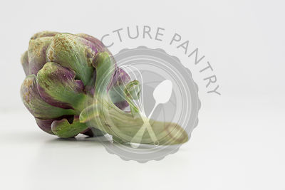 Artichoke on a white background