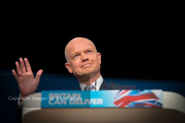 The Conservative Party Conference, Birmingham. At the ICC and Symphony Hall. William Hague, Foreign Secretary.