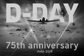 D-Day 75th poster BW version