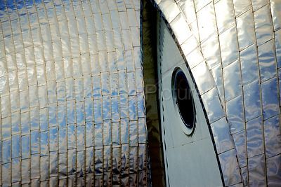 The Dramatic Steel Cladding on the Thames Barrier in Closeup