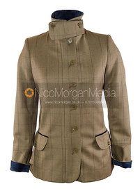 Stock image - Equestrian tweed jacket on white background
