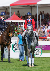 Competitors line up - show jumping phase,  Mitsubishi Motors Badminton Horse Trials, 6th May 2013.