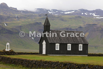 Budir Church, Snaefellsnes, Vesturland - one of the oldest wooden churches in Iceland