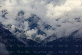 Cloud and valleys near Coroico, North Yungas province, Bolivia