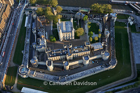 Aerial of the Tower of London