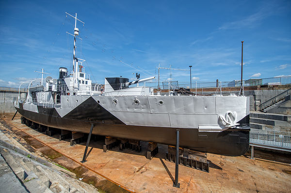 M33 battleship on display at Portsmouth Historic Dockyard