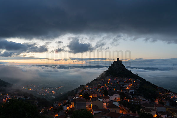 Elevated View of the Fortress Town of Burgos at Dawn