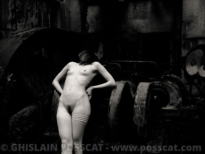Nude picture black and white ghots  woman
