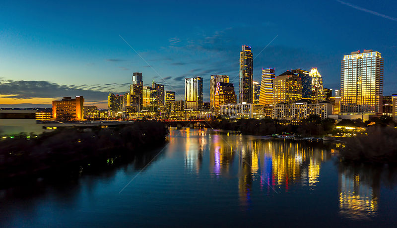 Downtown Austin Texas at Dusk