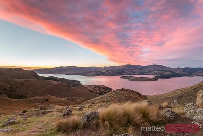 Epic sunrise over Littleton bay, Christchurch, New Zealand