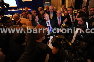 16th September 2013. Fine Gael parliamentary meeting in The Hermitage, Killenard, County Laois.Pictured is An Taoiseach Enda ...