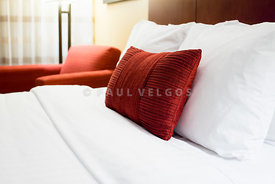 Hotel Room Bed Pillows