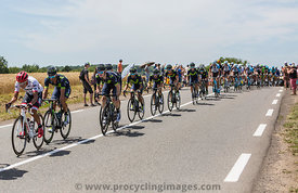 Team Movistar in the Peloton - Tour de France 2017