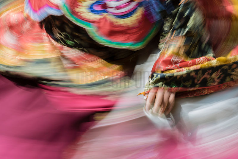 Motion Blur of Performer at the Trongsa Dromche