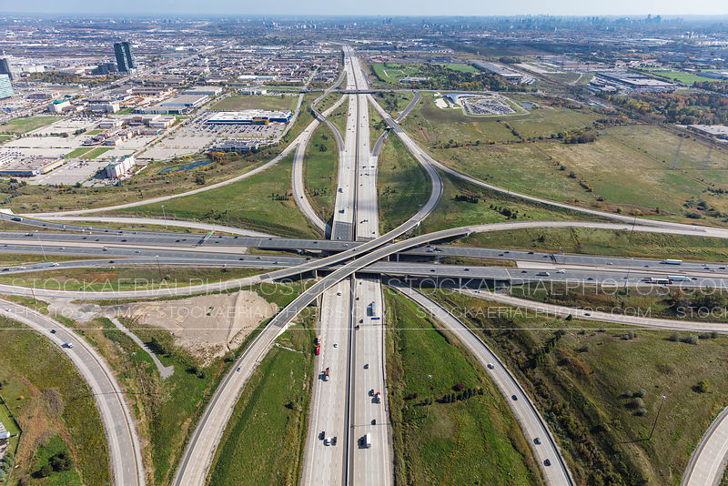 Highway 407 and Highway 400 Interchange