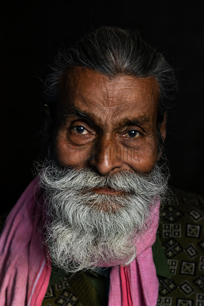 Portrait of an Indian Man with a Beard
