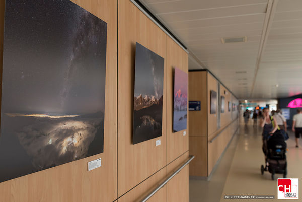 "EXHIBITION ""Randonnées Célestes"" Annecy Hospital - July/September 2018"