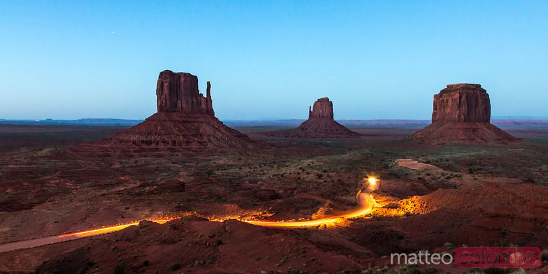 Dusk at Monument Valley, Arizona, USA