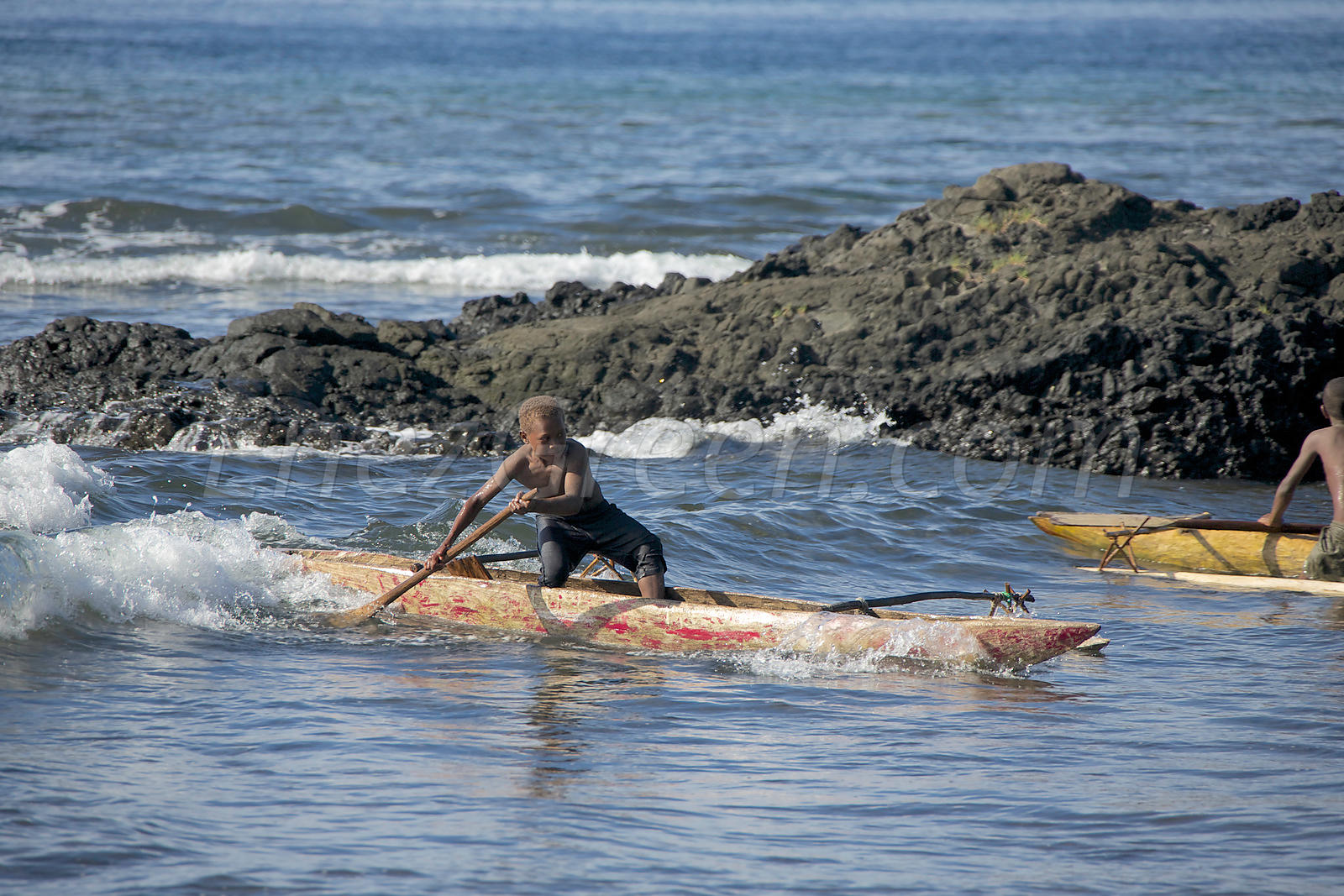 Wooden canoes in Vanua Lava