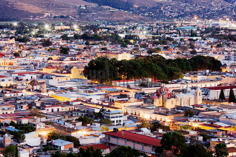 Evening View of the City of Oaxaca