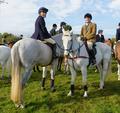 Hatty Coney, Billy Chatterton at the meet at Long Clawson