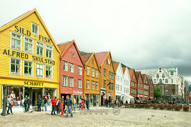 Hanseatic buildings in Bergen city center