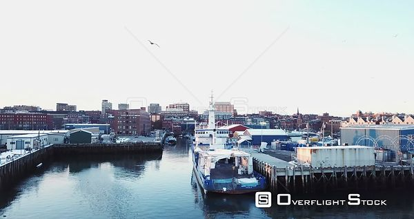 Drone Video Of Portland Maine Docks and Waterfront