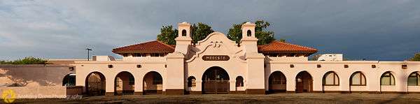 Panorama of the Modesto Railroad Depot #2