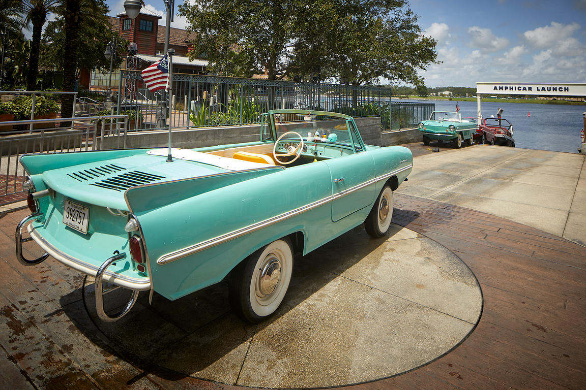 Classic America car turned into a boat