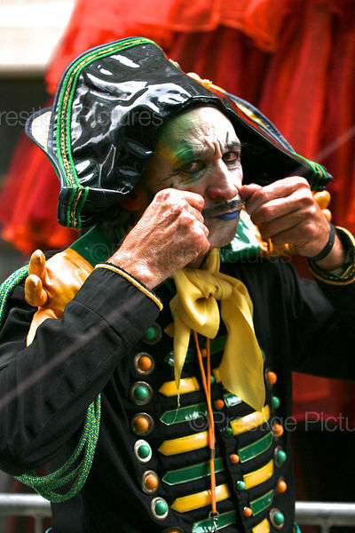 French Napoleonic Circus Performer Tweaking his Moustache