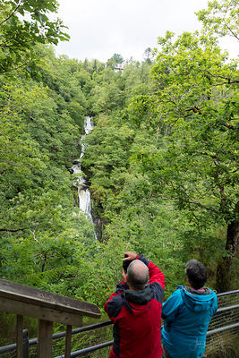 Viewing point, Mynach Falls, Devils Bridge