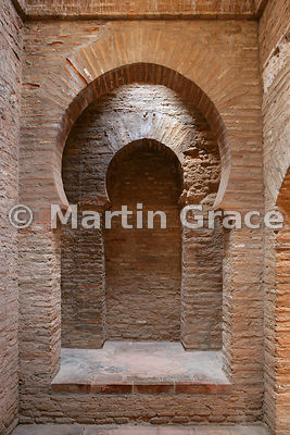 The mosque baths of the Alhambra (also know as Polinario's bath-house), a steam bath (Hammam) built in the early 14th century...