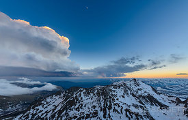 Cloud over Mt Bierstadt | Mt. Evans, CO