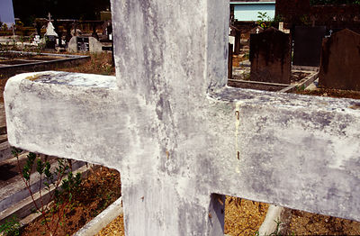 India - Kerala - The graveyard where Arundhati Roy's grandfather is buried