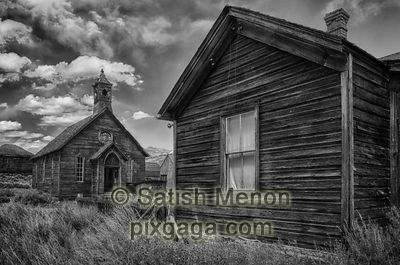 Church and House, Bodie Ghost Town, CA, USA