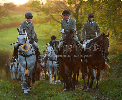 Isobel McEuen, Ashley Bealby - The Cottesmore Hunt at America Crossroads 17/10