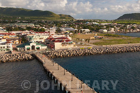 A view of Port Zante, Basseterre, St Kitts.