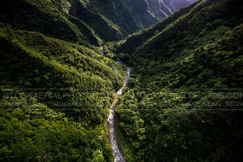 Lush Green River Valley, Kauai