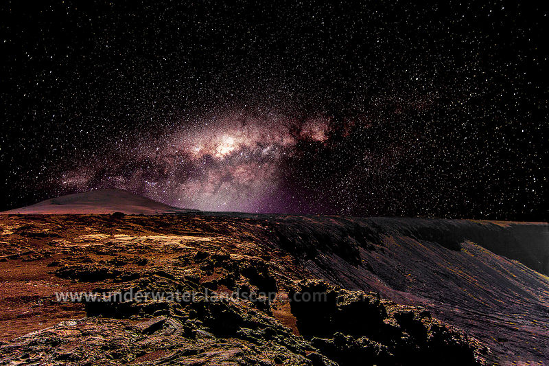 Milky way on the volcano