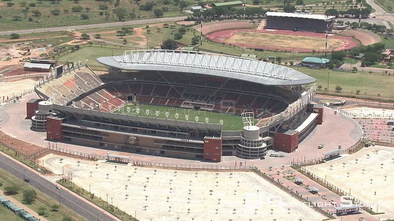 Aerial shot of the Peter Mokaba Stadium in Limpopo Mokaba Stadium Limpopo South Africa