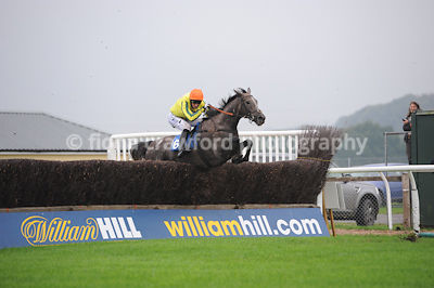 3.50pm 30th Sept 2013 Novices Steeple Chase with winner Ivors King
