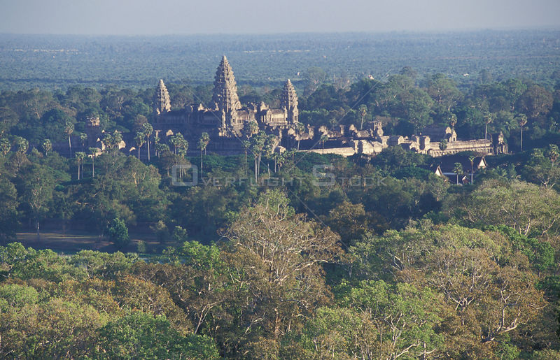 Aerial view of Angkor Wat temple, Angkor World Heritage Site, Siem Reap, Cambodia