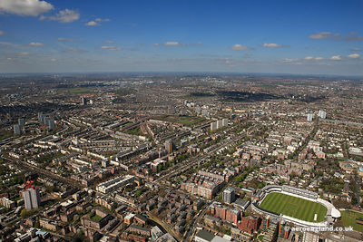 aerial photograph of St Johns Wood London UK