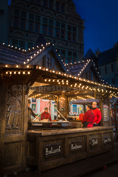 Barbecue Hut at the Ghent Christmas Market